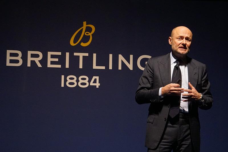 新製品発表会に来日したブライトリング CEOのジョージ・カーン氏