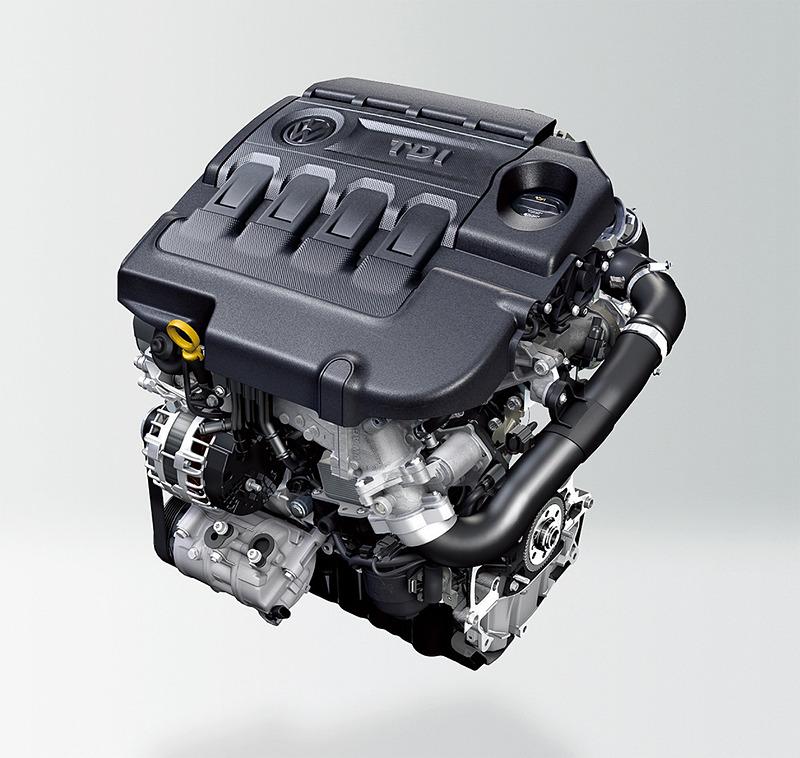 最高出力140kW(190PS)/3500-4000rpm、最大トルク400Nm(40.8kgfm)/1900-3300rpmを発生する直列4気筒DOHC 2.0リッターターボディーゼルエンジンと6速DSGを組み合わせる