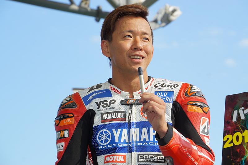 YAMAHA FACTORY RACING TEAMの中須賀克行選手