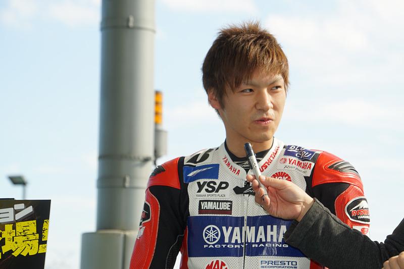 YAMAHA FACTORY RACING TEAMの野左根航汰選手