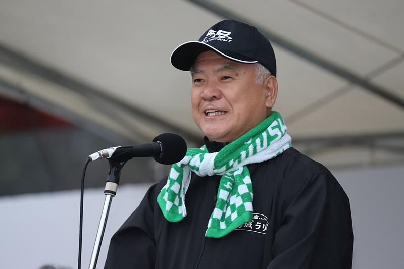 大会会長を務める新城市長 穂積亮次氏
