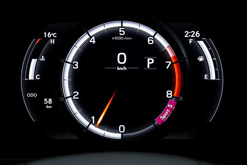 Sport Sモード時の表示