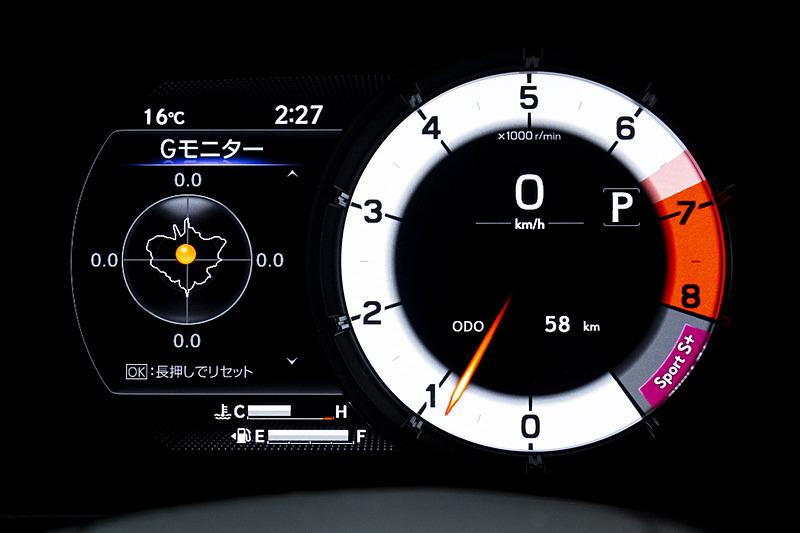 Sport S+モード時の表示