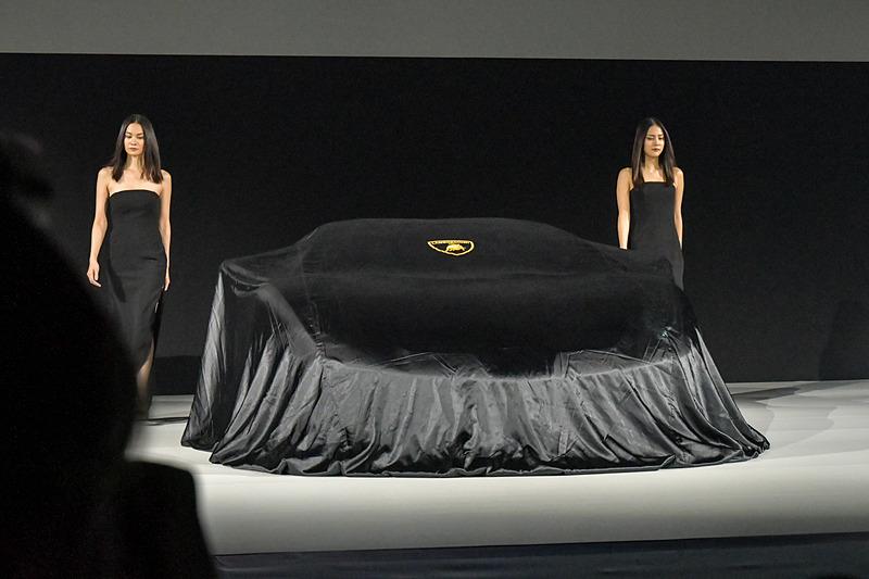 イメージビデオが終了し、ステージ中央に美女が2人現れる