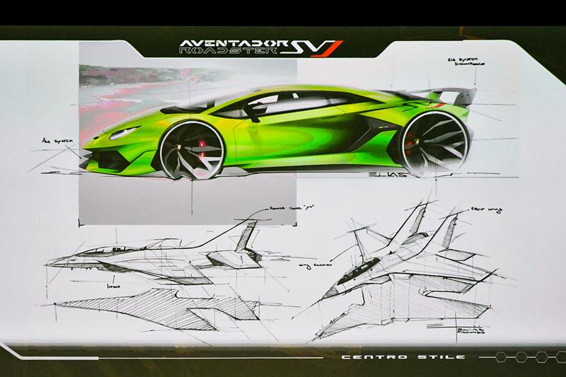 アヴェンタドール SVJのデザインはジェット戦闘機にインスパイアされているという