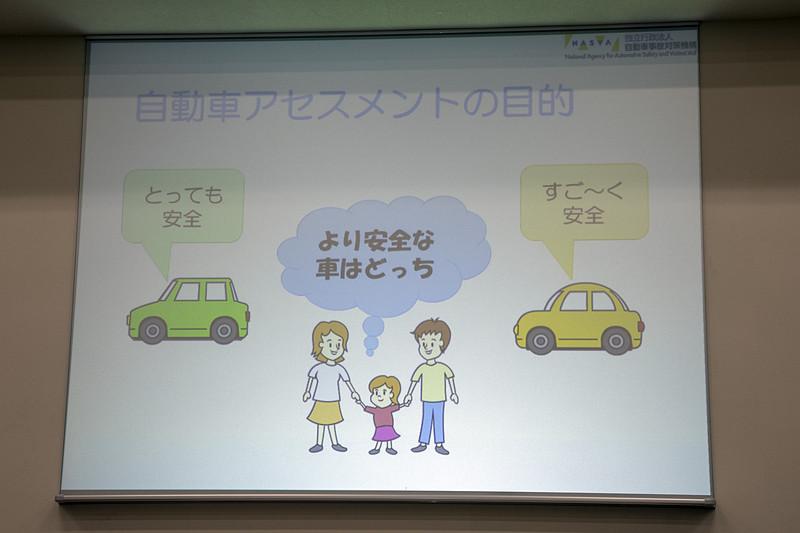 自動車事故対策機構(NASVA)の業務について説明するスライド