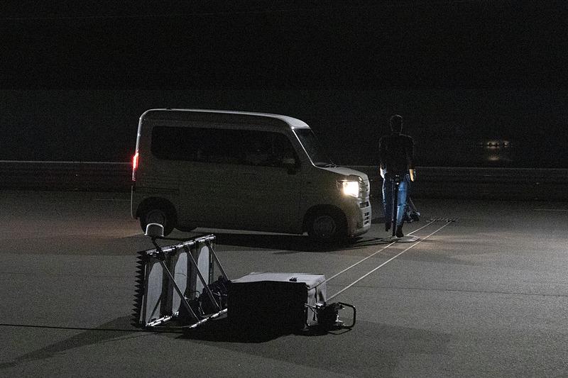 デモンストレーションの後は同乗での体験走行も行なわれたので、用意されていたホンダのN-VANに乗車した