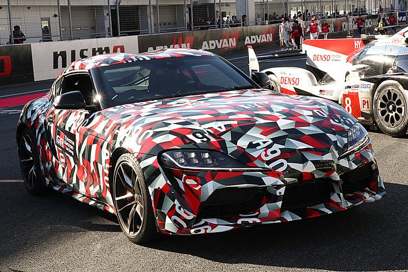 「TOYOTA GAZOO Racing FESTIVAL 2018」に登場した新型「スープラ」試作車