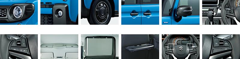 スペーシア ギア HYBRID XZターボ 全方位モニター用カメラパッケージ装着車の主な装備
