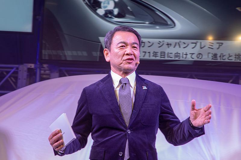 プレゼンテーションを行なったポルシェ ジャパン株式会社 代表取締役社長の七五三木敏幸氏