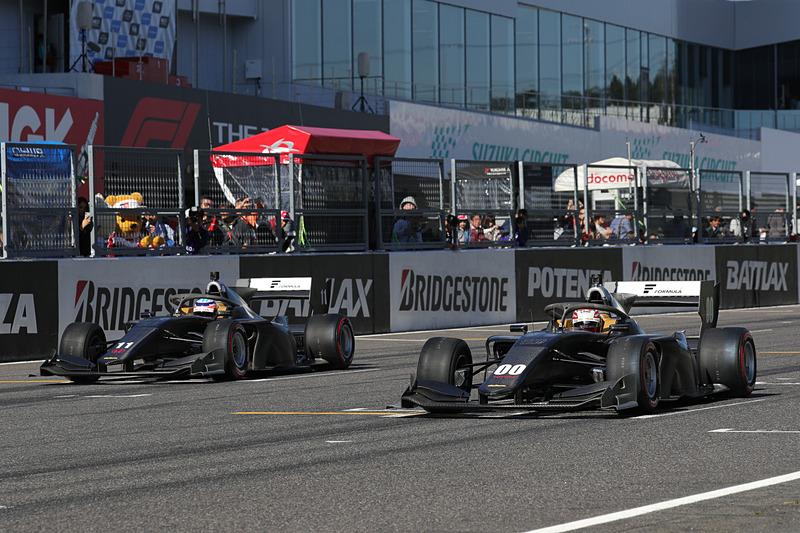 写真は2018年 全日本スーパーフォーミュラ選手権 最終戦 第17回JAF鈴鹿グランプリでのデモ走行