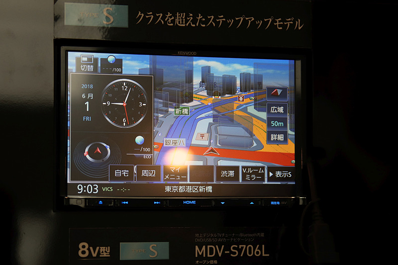 8V型の液晶パネルを採用する「MDV-S706L」