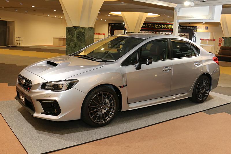 プレゼント品のWRX S4 STI Sportは国際会議場の2階に展示されている