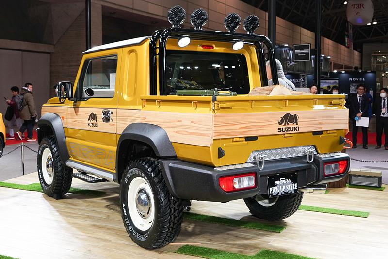 新型ジムニーシエラに荷台を装備したジムニーシエラ ピックアップ スタイル