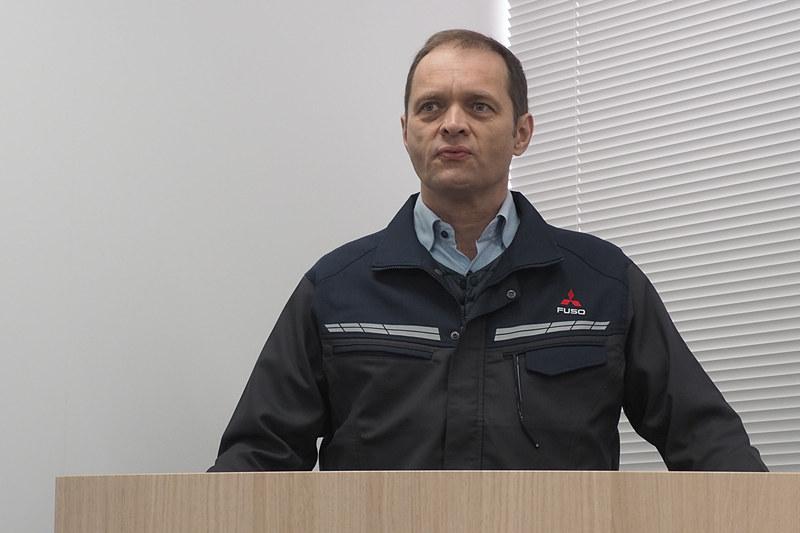 三菱ふそうトラック・バス株式会社 生産本部 施設管理技術部 部長のシューマッハ・トーステン氏