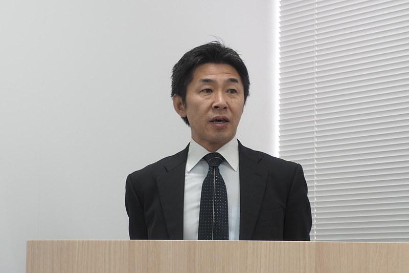 三菱ふそうトラック・バス株式会社 企業渉外部 部長の越前晃氏