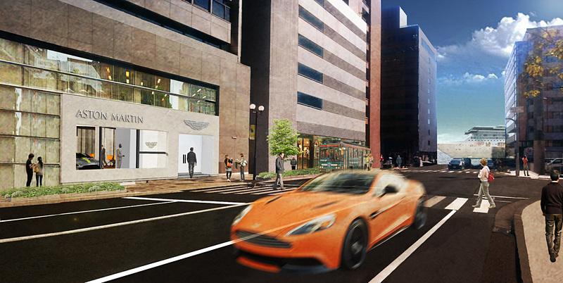 アストンマーティン神戸の完成イメージ