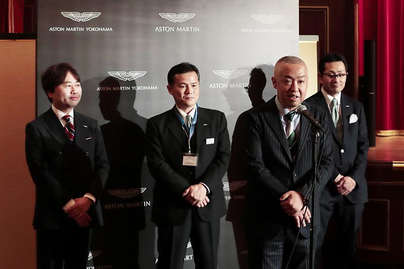 プレオープニングパーティに出席したアストンマーティン・ジャパン マネージングディレクターの寺嶋正一氏