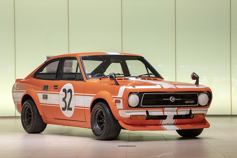 再生が完了した「1972年式 B110サニー 1200クーペ GX-5 特殊ツーリングカー仕様車」