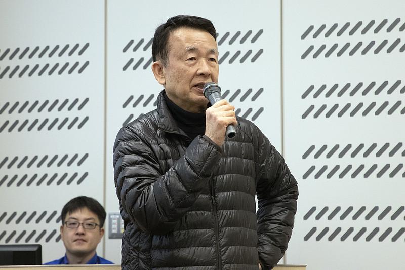 日産OBであり、日本モータースポーツ推進機構 理事長を務める日置和夫氏