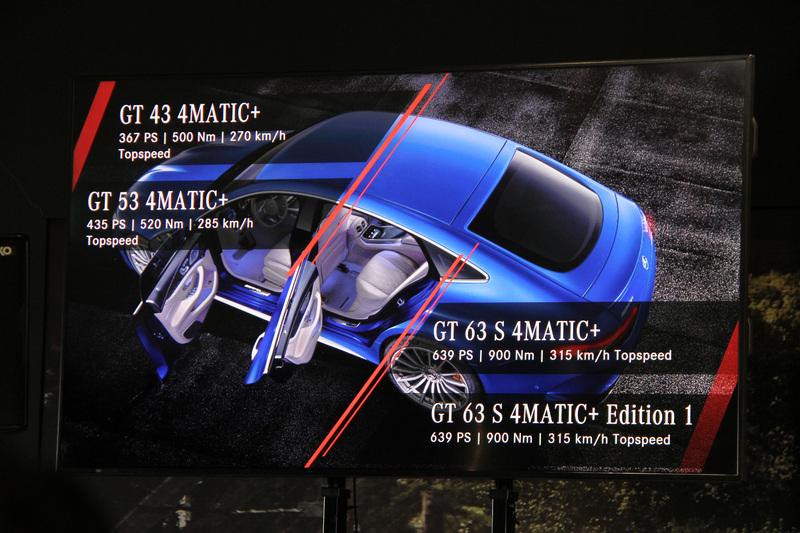 メルセデスAMG GT 4ドアクーペは高いパフォーマンス性能と快適性を併せ持つ