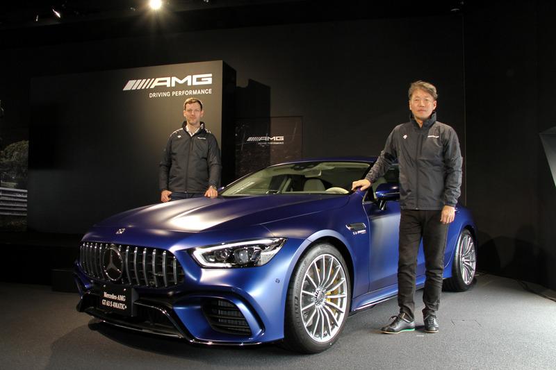 新型4ドアスポーツカー「メルセデスAMG GT 4ドアクーペ」の発表会が「AMG 東京世田谷」で開催された