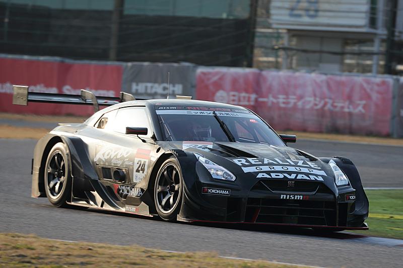 SUPER GTのGT300クラスなどで活躍するGT3マシンがテスト走行していた