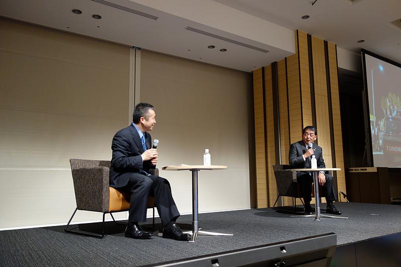 後半には若田氏と寺師氏による対談形式のトークセッションを実施