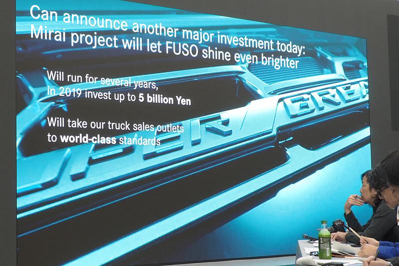 「ミライ」プロジェクトで三菱ふそうの未来をさらに明るくする、2019年は50億円を投資