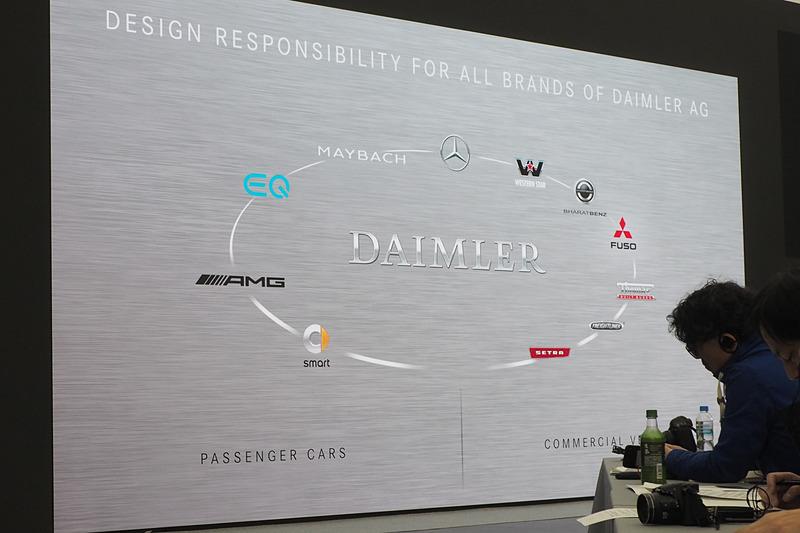 ダイムラーAGのブランド一覧。右側が商用車