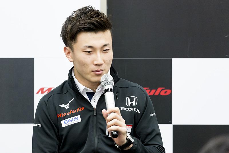 Modulo Nakajima Racingの64号車「 Modulo Epson NSX-GT」をドライブする牧野任祐選手