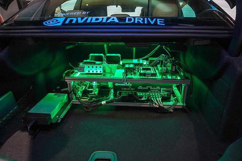 NVIDIAがGTCで展示したドライブシミュレータの例