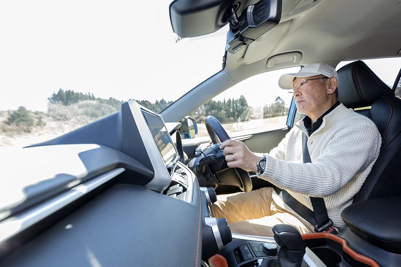 視界がよく、気持ちよくドライブできる