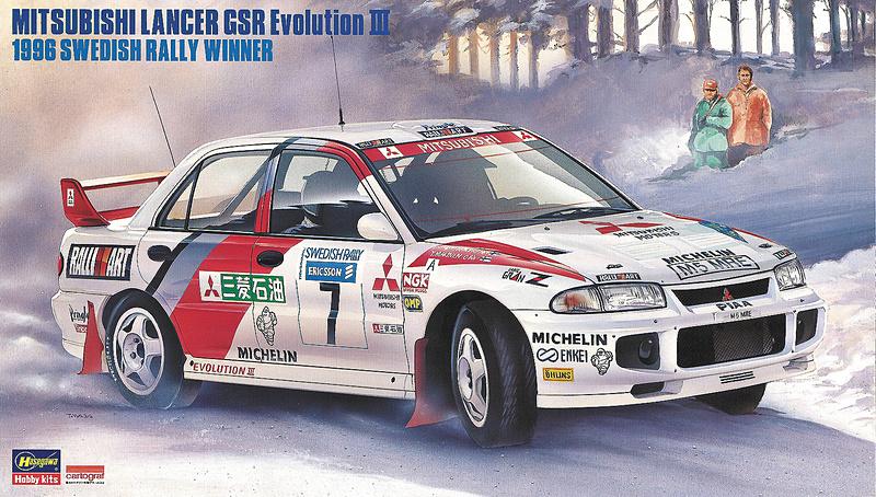 """「三菱 ランサー GSR エボリューション III """"1996 スウェディッシュ ラリー ウィナー""""」"""