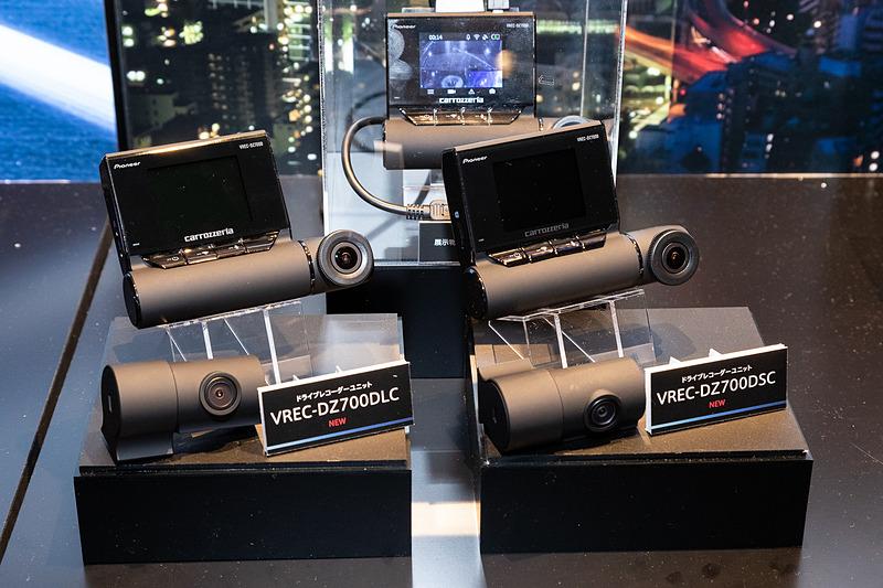 2カメラ同梱となる「VREC-DZ700DLC」「VREC-DZ700DSC」。後者は車外と車内用