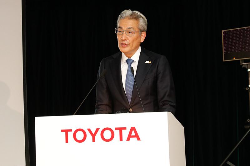 2019年3月期の決算報告を行なうトヨタ自動車株式会社 執行役員 白柳正義氏