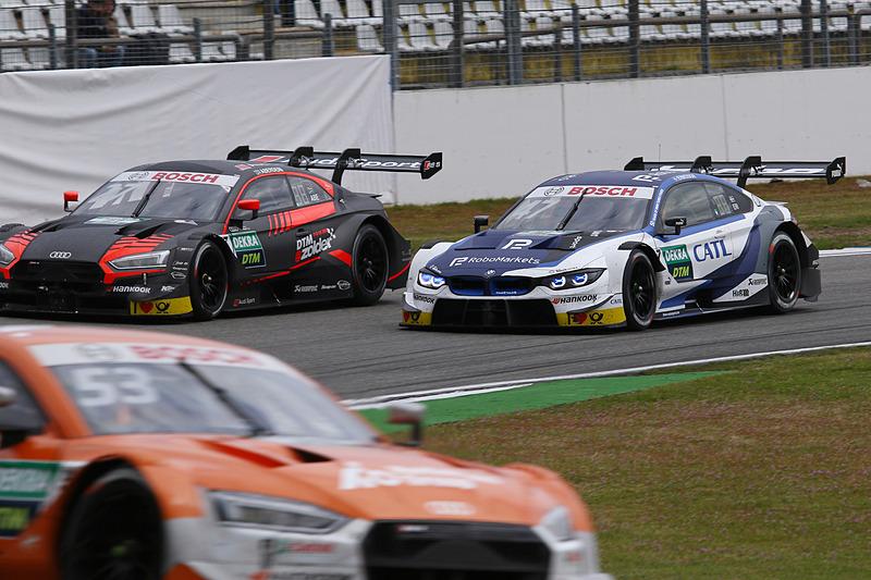 中盤、BMWのジョエル・エリクソンがジョナサン・アベルデイン(No.27)のインをとる