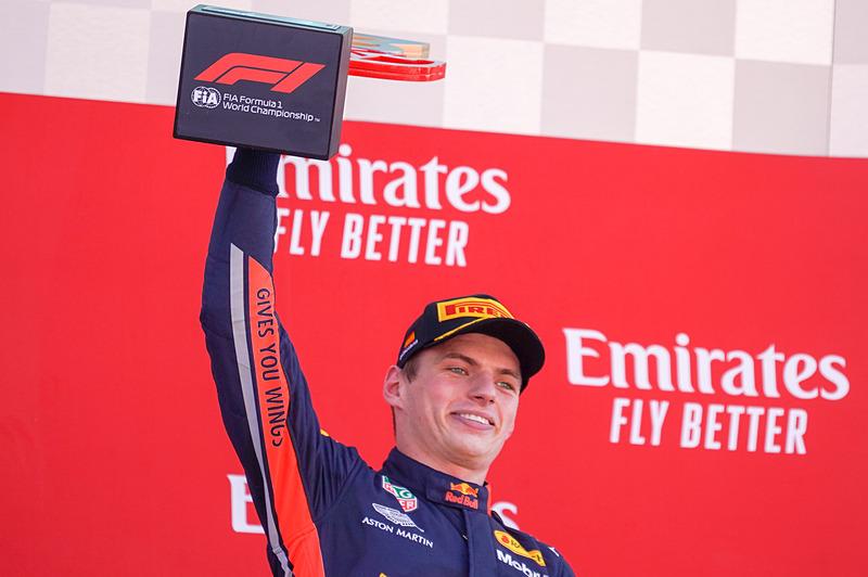 決勝レースで3位に入ったマックス・フェルスタッペン選手