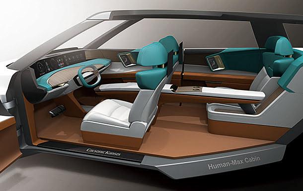 未来のキャビンコンセプト「Human-Max Cabin」