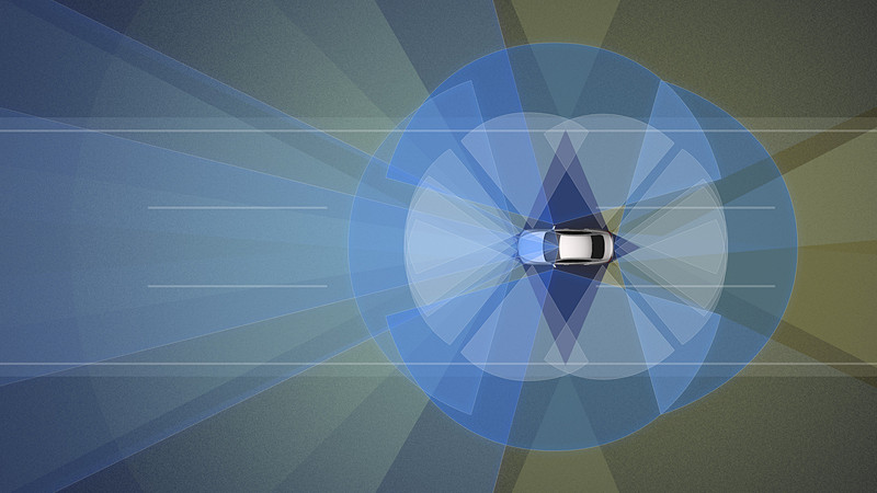 「プロパイロット2.0」では、カメラ、レーダー、ソナー、GPS、3D高精度地図データ(HDマップ)を組み合わせることで、車両の周囲360度の情報と道路上の正確な位置を把握