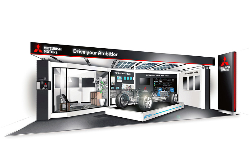 三菱自動車ブースの展示イメージ