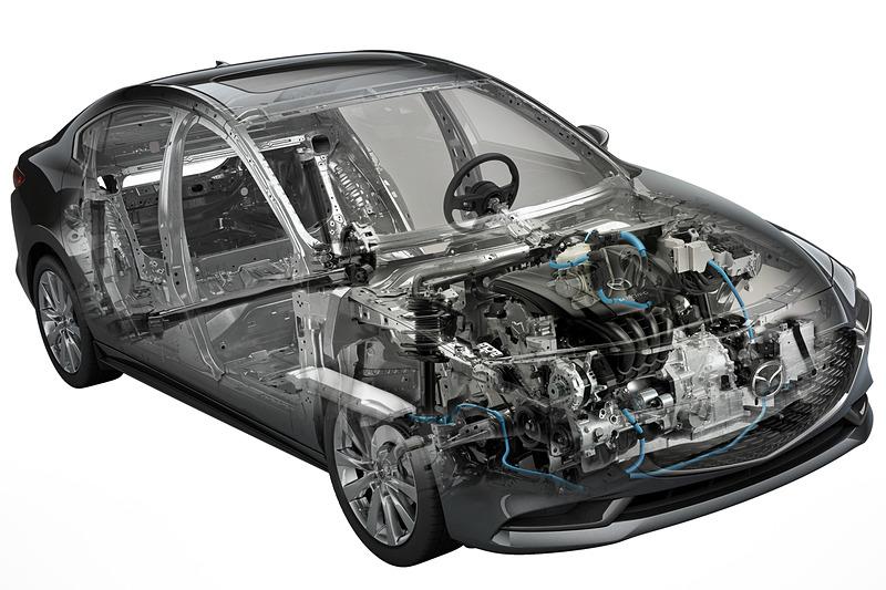SKYACTIV-X搭載車には、マツダの理想とする小型で効率的なハイブリッドシステム「M Hybrid」を組み合わせる
