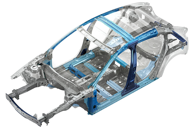 超高張力鋼板で剛性を確保しつつ衝撃吸収率を高めたボディ構造