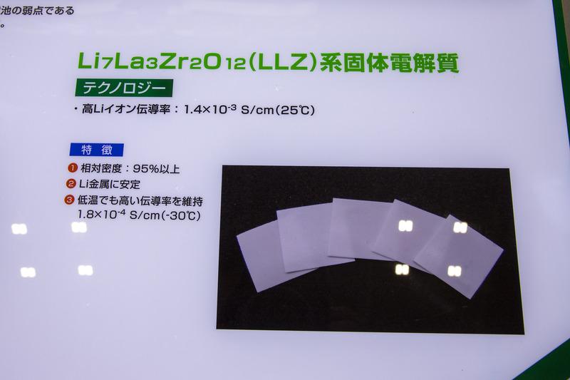 全固体電池の解説ボード
