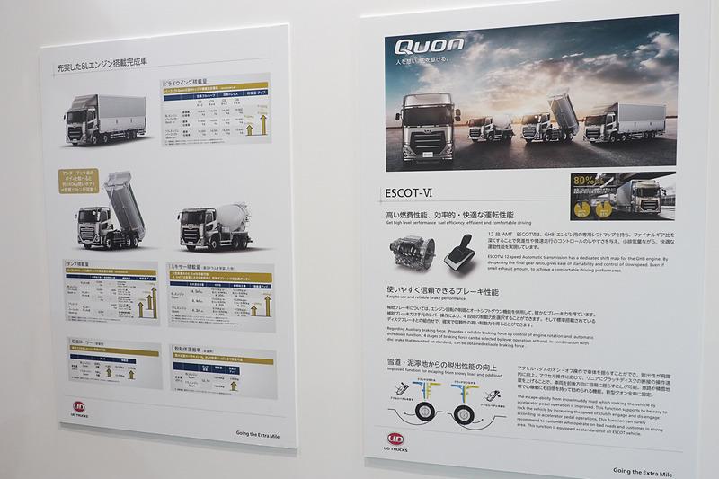 クオンの搭載技術とラインアップ
