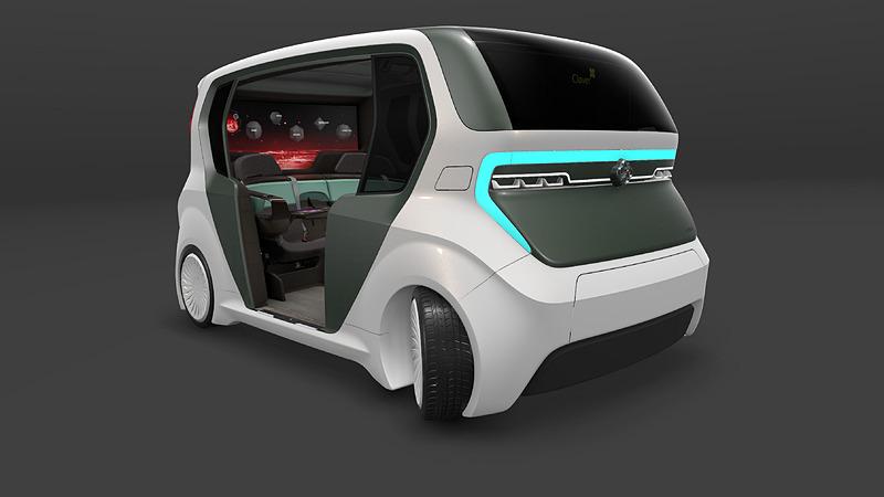 将来の自動運転を見据えた「AI19クローバー」(写真:アディエント)