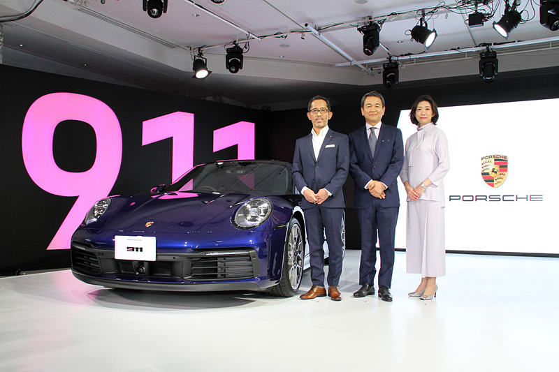 新型「911」(992型)を日本初公開