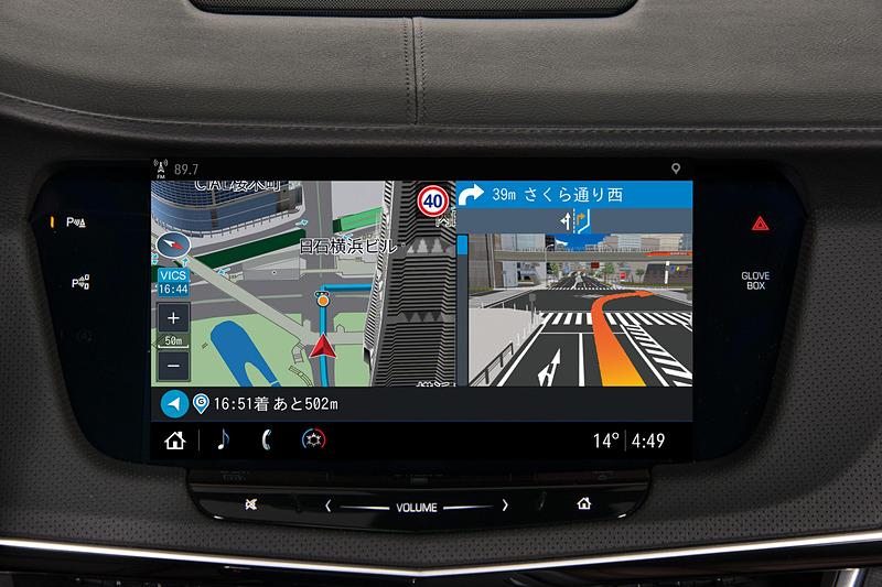 GMジャパンとゼンリンデータコムが共同開発した完全通信車載ナビ「クラウドストリーミングナビ」。車載センサー(車速、向き、明るさ、傾き)連動のパケット通信サービスを利用する完全通信型ナビは世界初としている