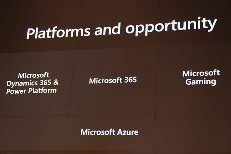 マイクロソフトでは4つのクラウドテクノロジーを運用