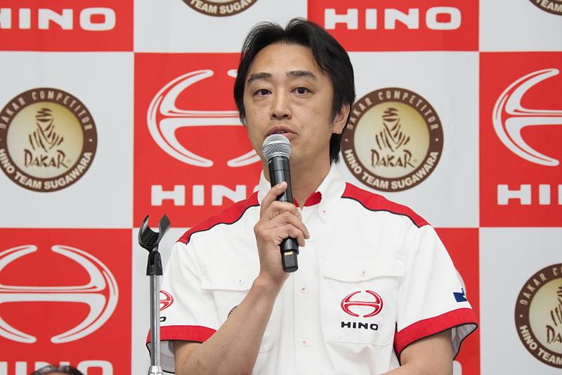 「日野チームスガワラ」のチーム代表に就任した菅原照仁氏
